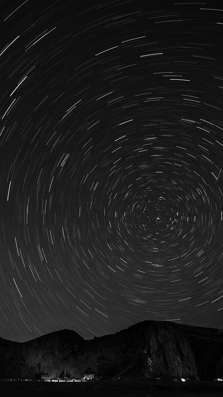 iPhone6papers.co-Apple-iPhone-6-iphone6-plus-wallpaper-nh58-sky-star-round-night-bw-dark-nature-mountain