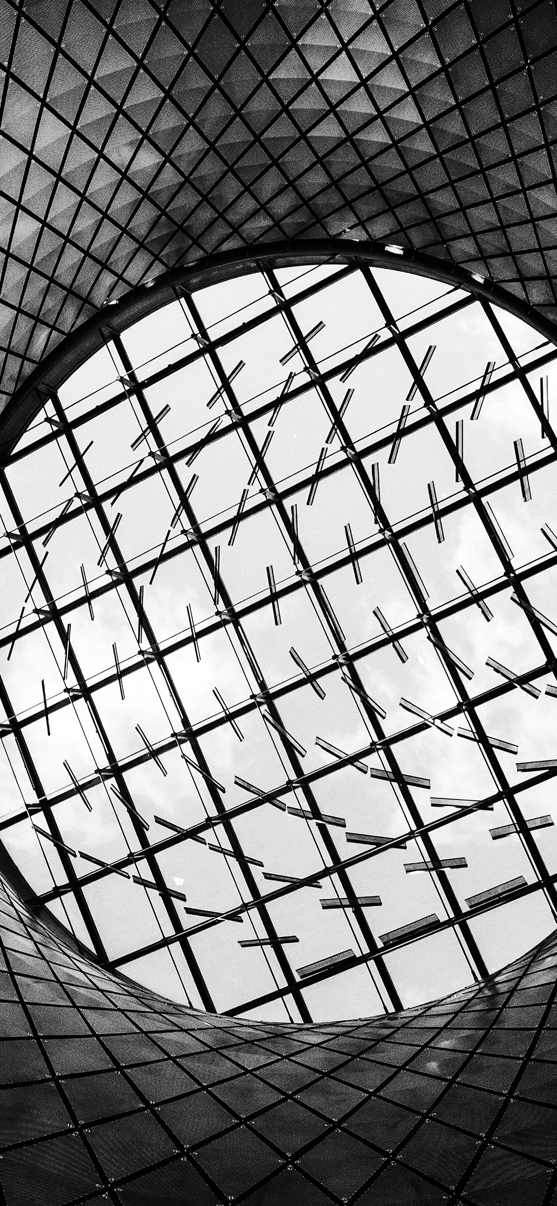 Nh84 Architecture Building Pattern Dark Bw