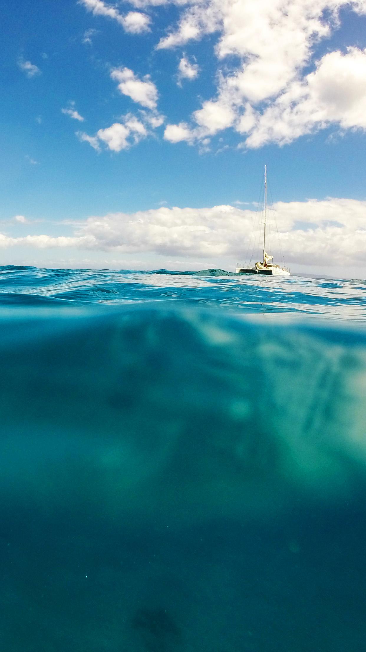 Iphone7paperscom Iphone7 Wallpaper Ni10 Sea Ocean Boat