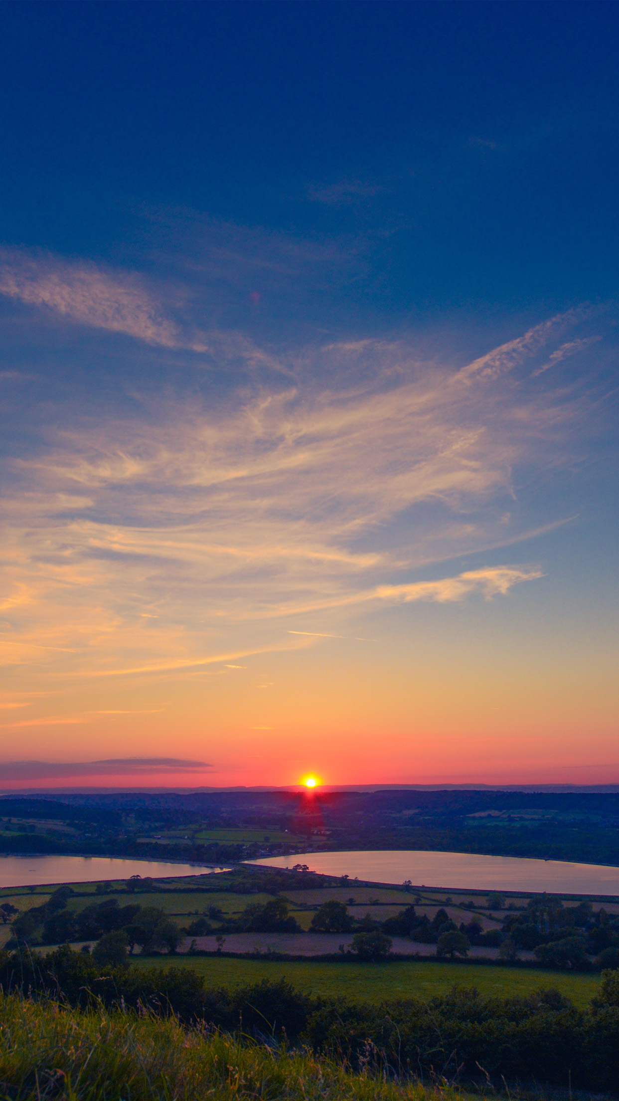 ni14-sunset-peace-land-sky-blue-nature-wallpaper