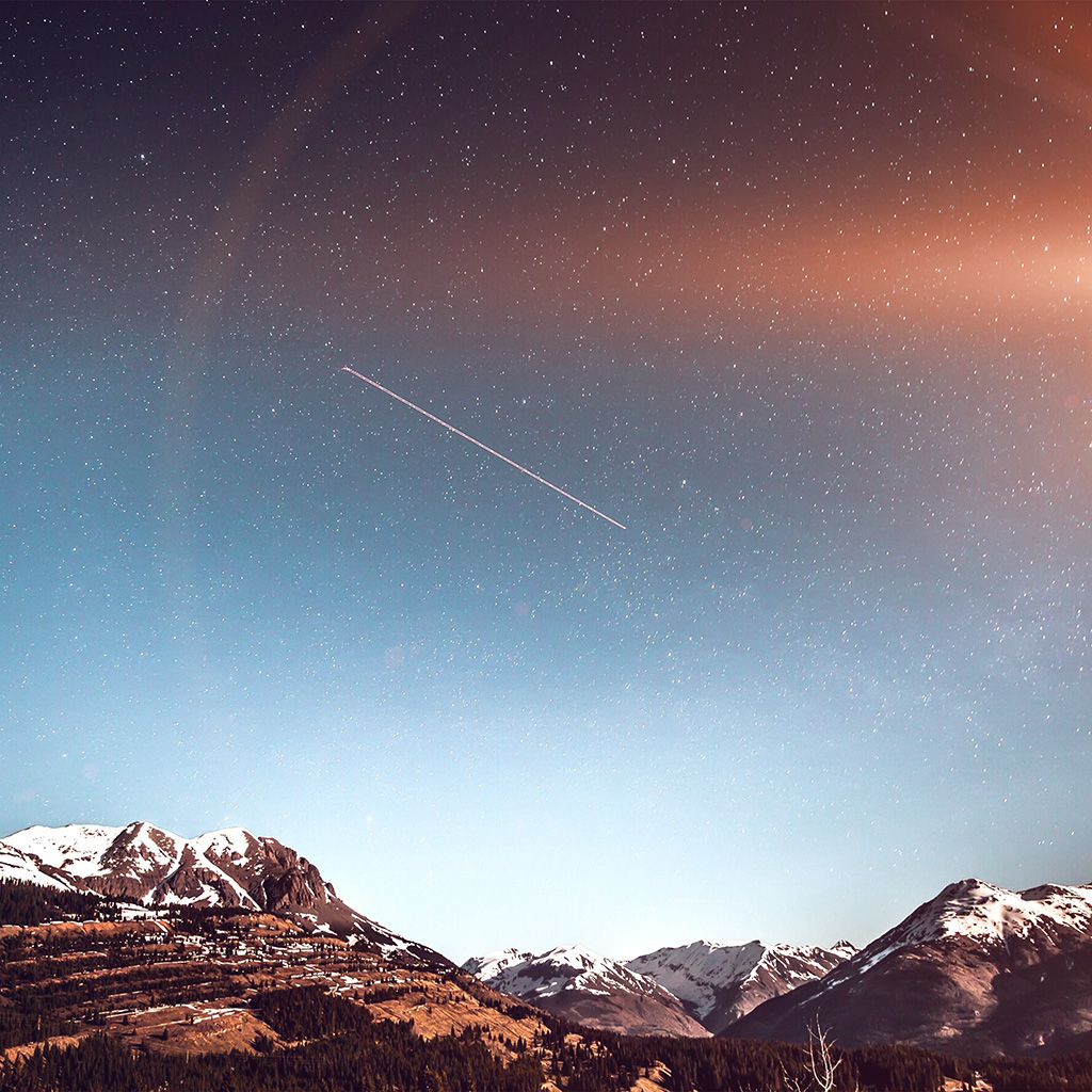 android-wallpaper-ni44-shooting-star-night-sky-starry-mountain-flare-wallpaper