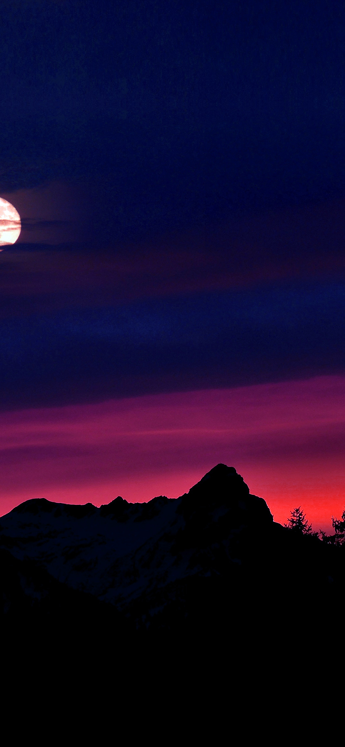 iPhonexpapers.com-Apple-iPhone-wallpaper-ni65-mountain-picks-night-sunset-sky-red-blue