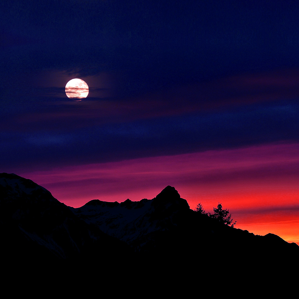 wallpaper-ni65-mountain-picks-night-sunset-sky-red-blue-wallpaper