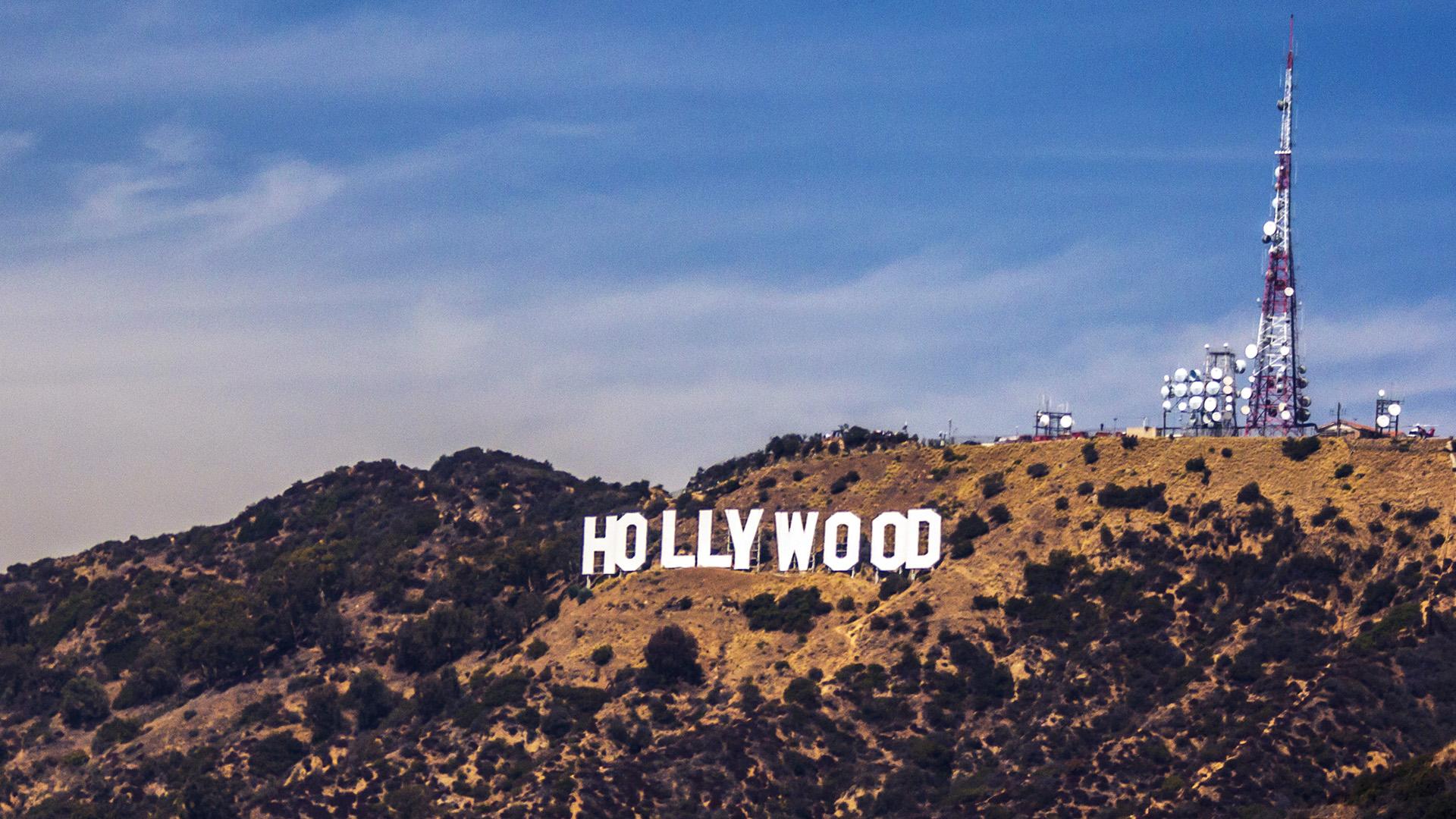 Ni82 Hollywood Sign La America Sky Mountain Wallpaper