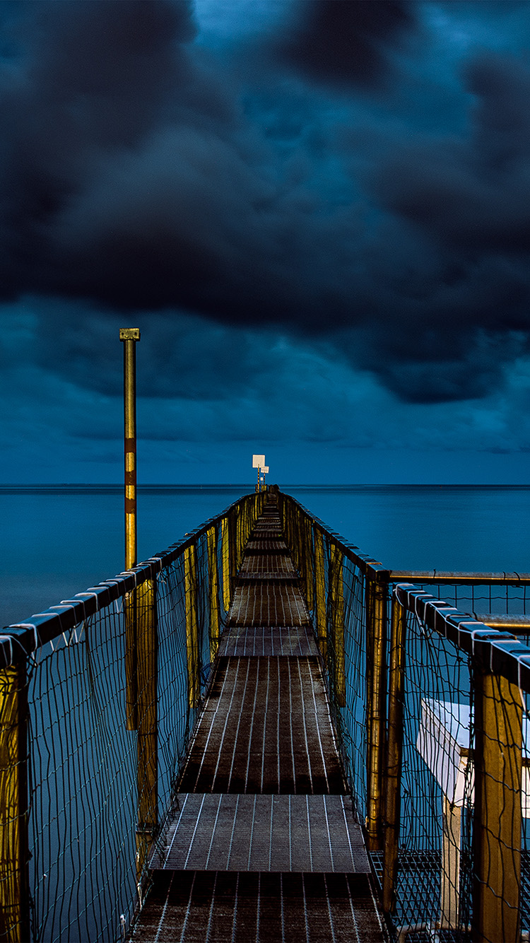 iPhone6papers.co-Apple-iPhone-6-iphone6-plus-wallpaper-ni93-sea-night-blue-dark-bridge-ocean