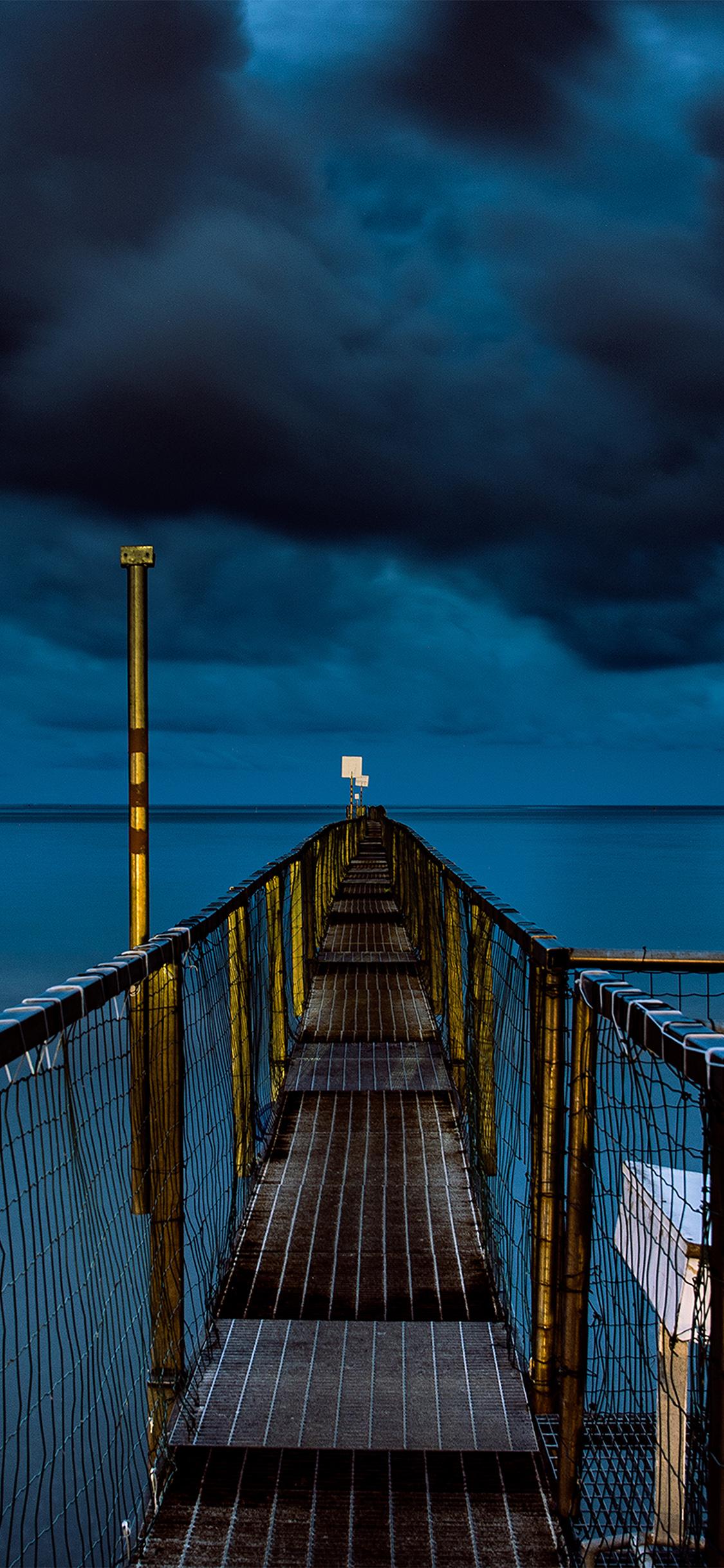 iPhoneXpapers.com-Apple-iPhone-wallpaper-ni93-sea-night-blue-dark-bridge-ocean