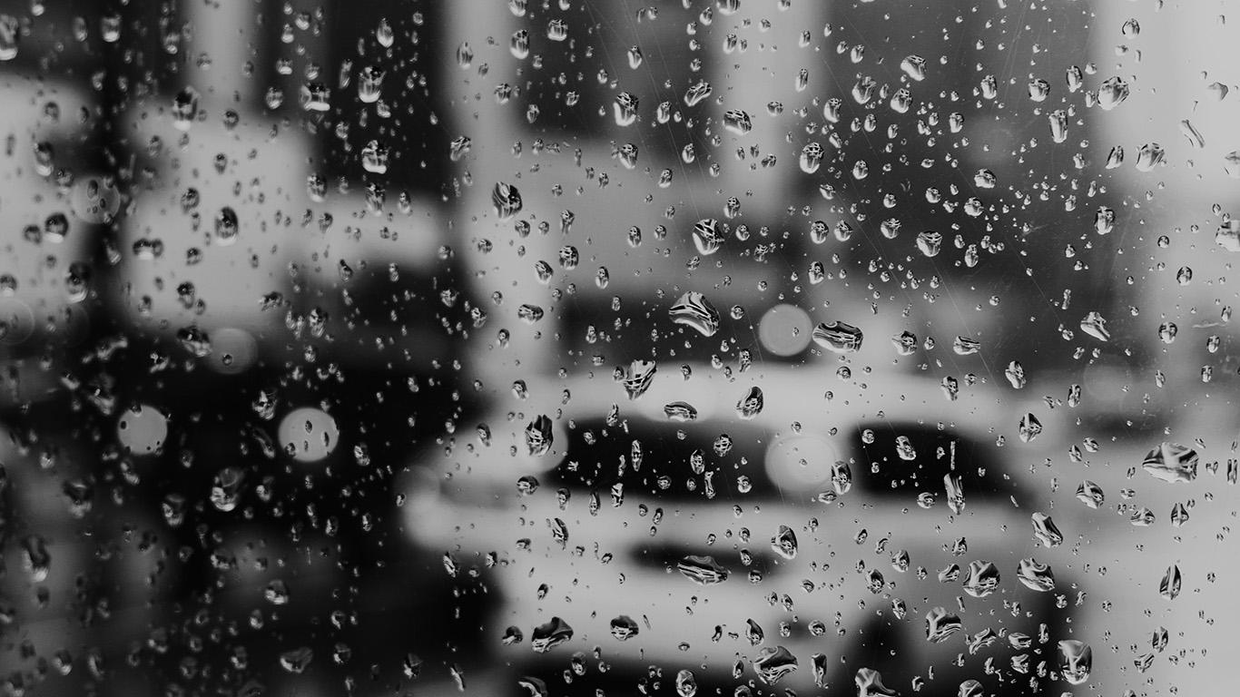 Wallpaper For Desktop Laptop Nj02 Rain Window Bokeh Art Car Sad