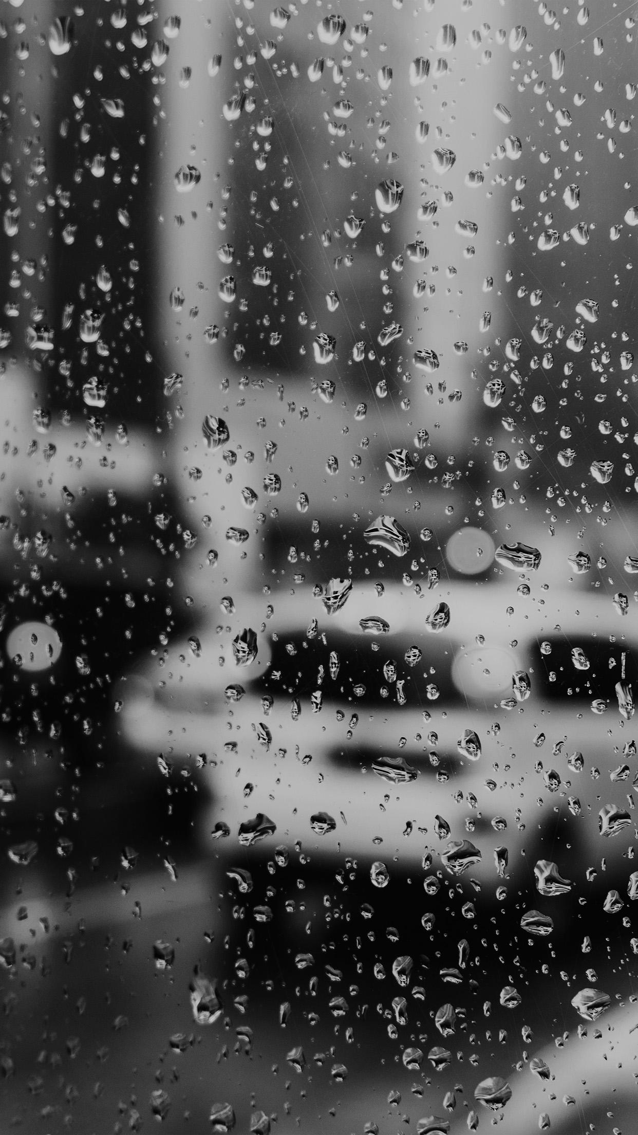 Iphonexpapers Com Iphone X Wallpaper Nj02 Rain Window Bokeh Art Car Sad Bw Dark