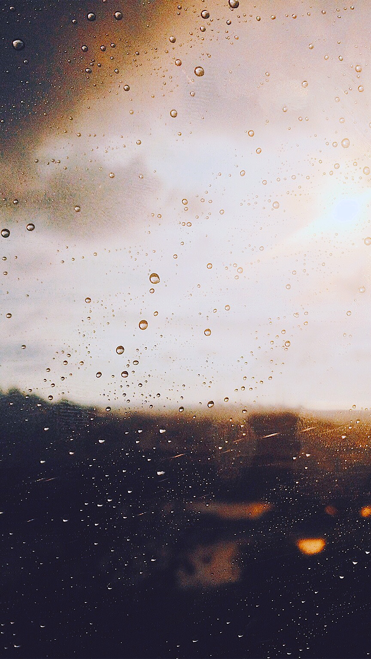 Nj57 Rain Window Day Sunlight Bokeh Blue Wallpaper