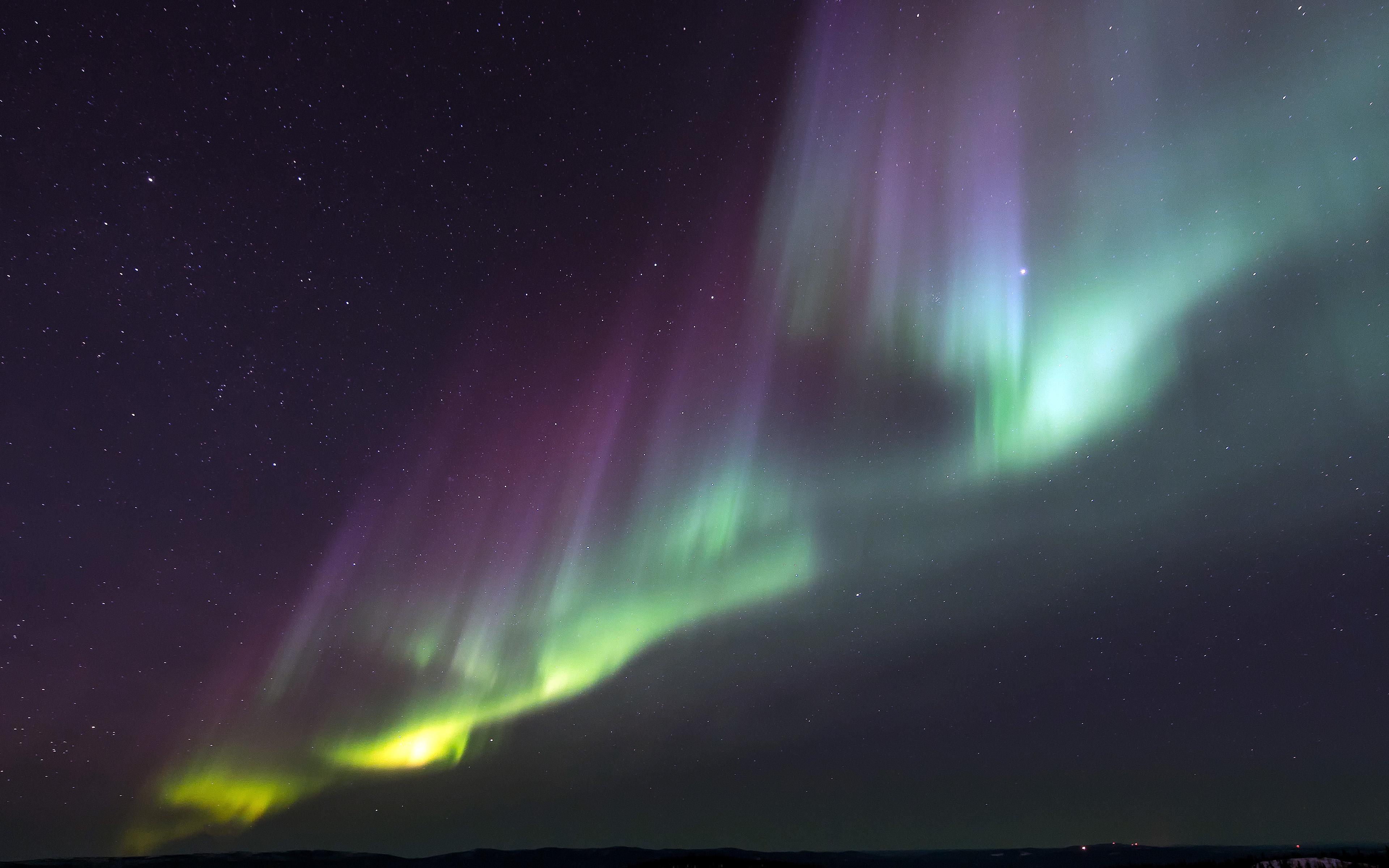 Nj73 Aurora Night Sky Awesome Beautiful Color Wallpaper