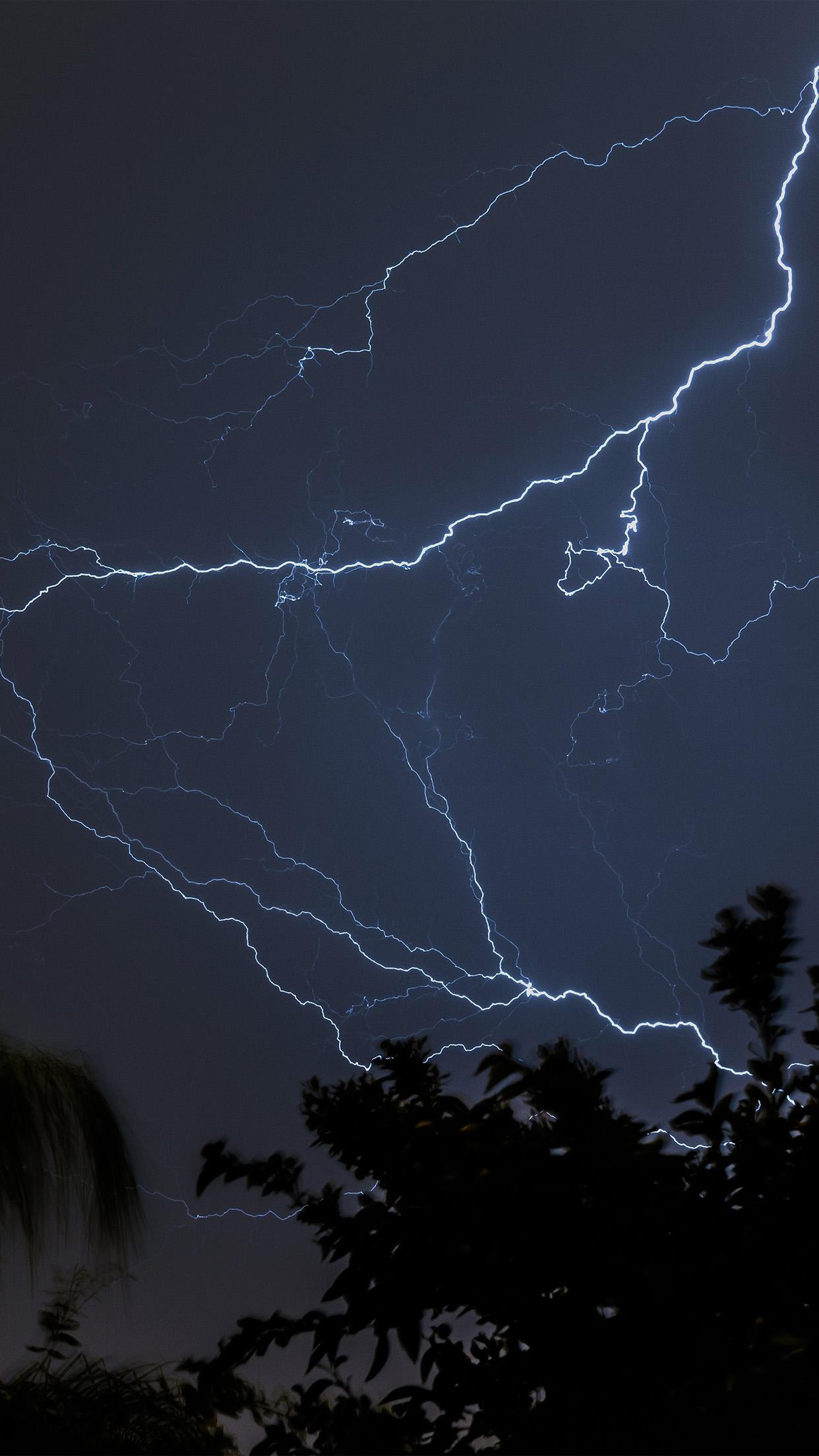 Iphone7papers Com Iphone7 Wallpaper Nj83 Thunder Bolt Sky Night Dark