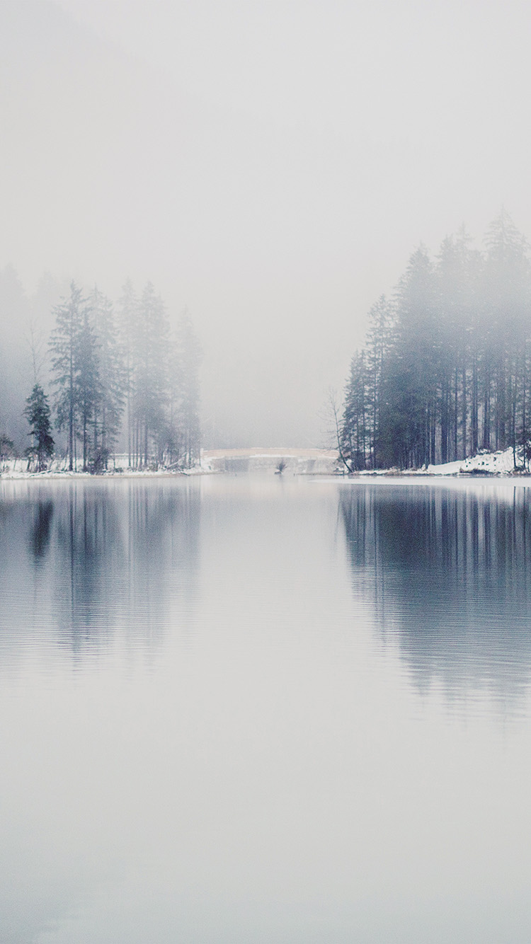 iPhone6papers.co-Apple-iPhone-6-iphone6-plus-wallpaper-nk06-winter-lake-white-blue-wood-nature-fog