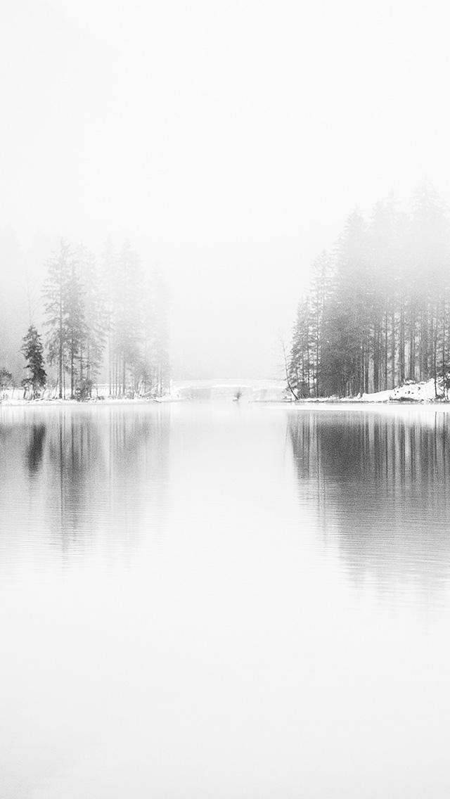 freeios8.com-iphone-4-5-6-plus-ipad-ios8-nk08-winter-lake-white-bw-wood-nature-fog