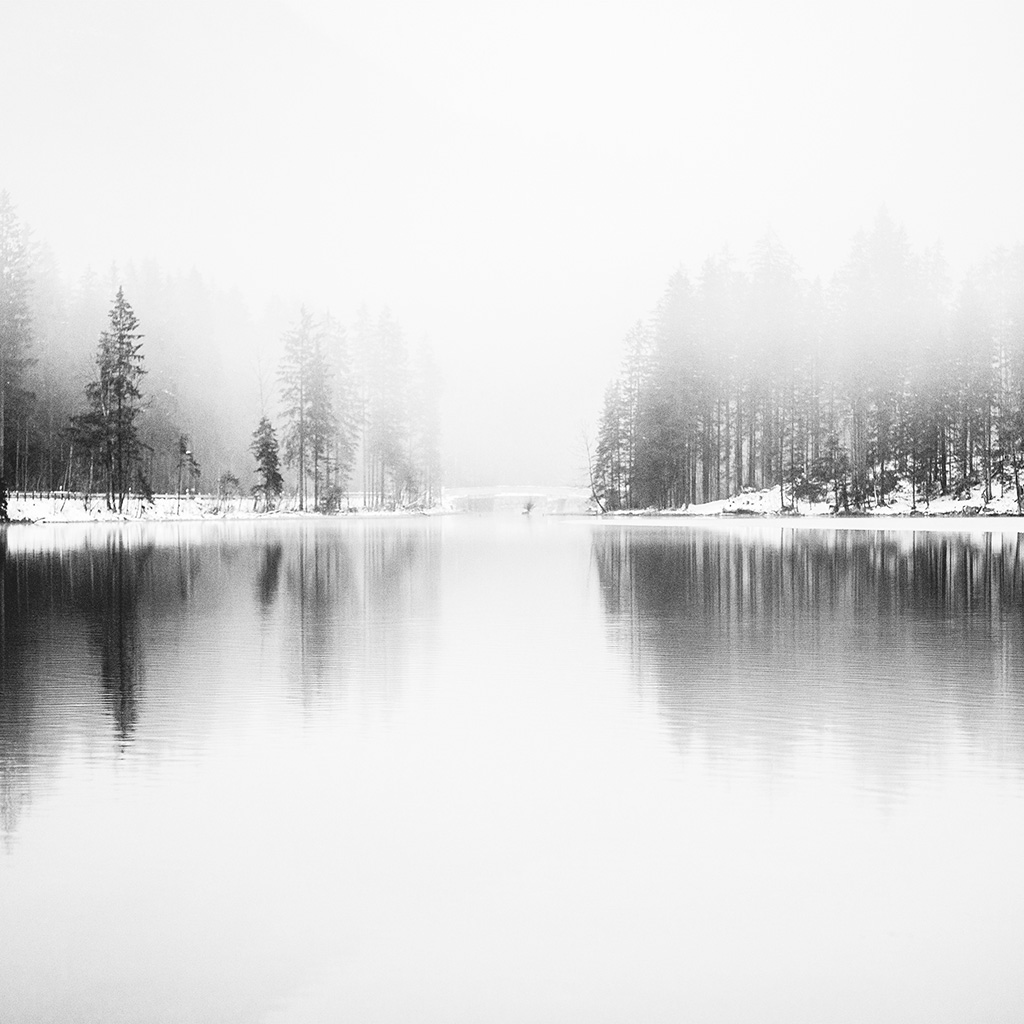 wallpaper-nk08-winter-lake-white-bw-wood-nature-fog-wallpaper