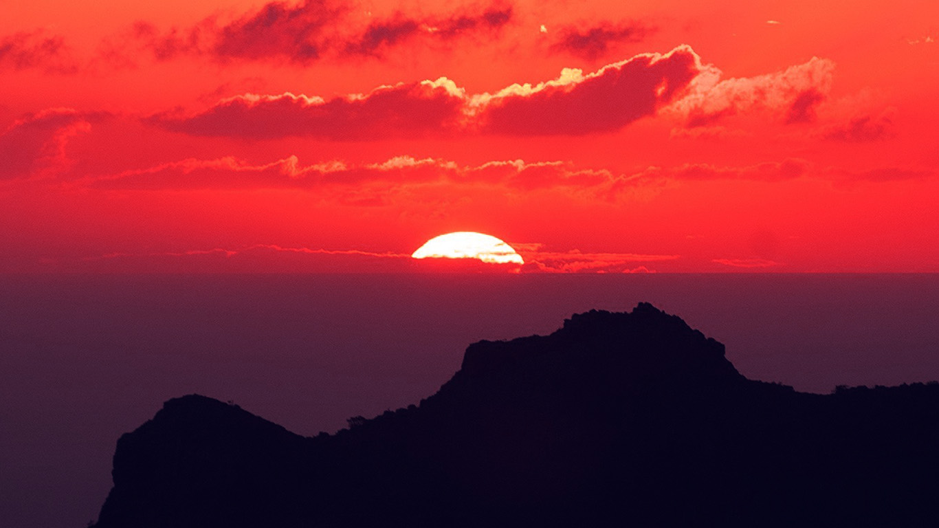 wallpaper-desktop-laptop-mac-macbook-nk19-canary-island-sunset-sky-mountain-nature-red
