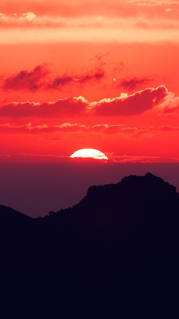 iPhone6papers.co-Apple-iPhone-6-iphone6-plus-wallpaper-nk19-canary-island-sunset-sky-mountain-nature-red