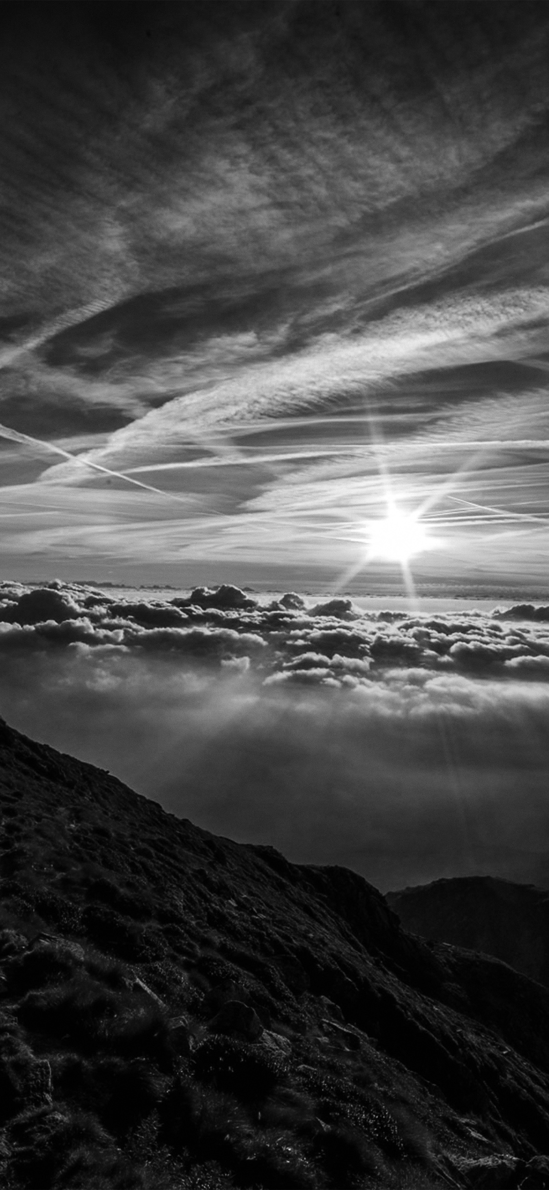 iPhonexpapers.com-Apple-iPhone-wallpaper-nk26-morning-mountain-sky-nature-shine-dark-bw