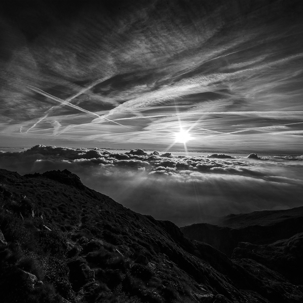 android-wallpaper-nk26-morning-mountain-sky-nature-shine-dark-bw-wallpaper
