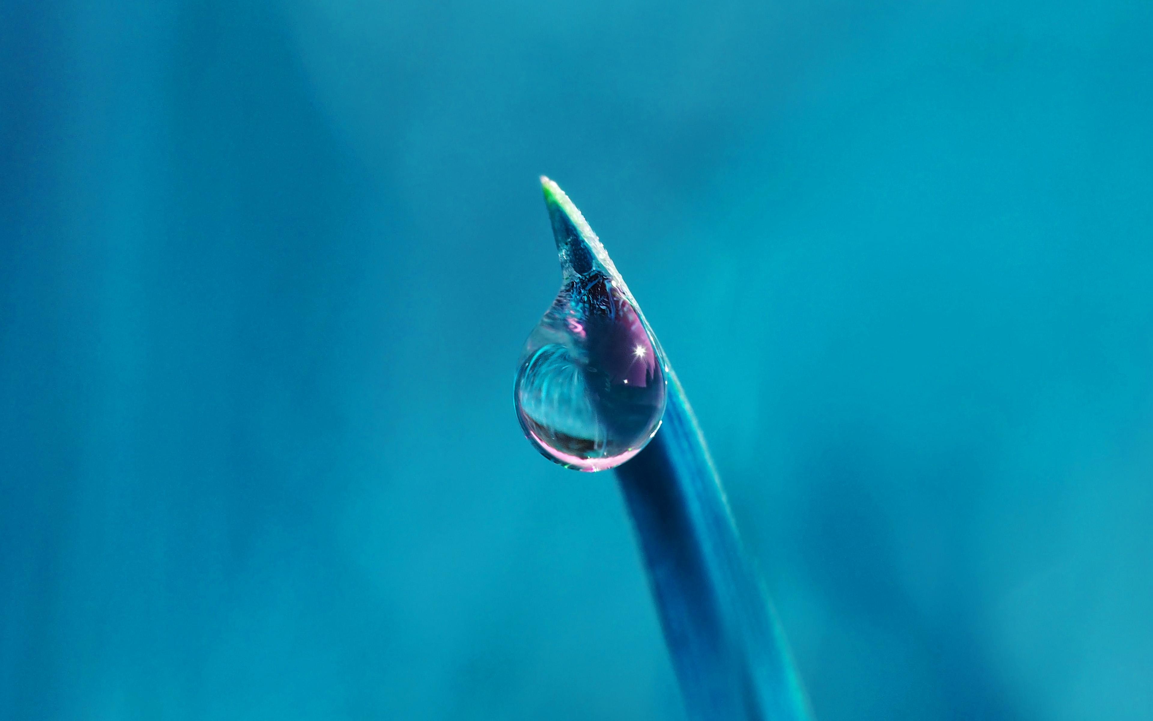 Papers Co Desktop Wallpaper Nk29 Water Drip Rain Blue