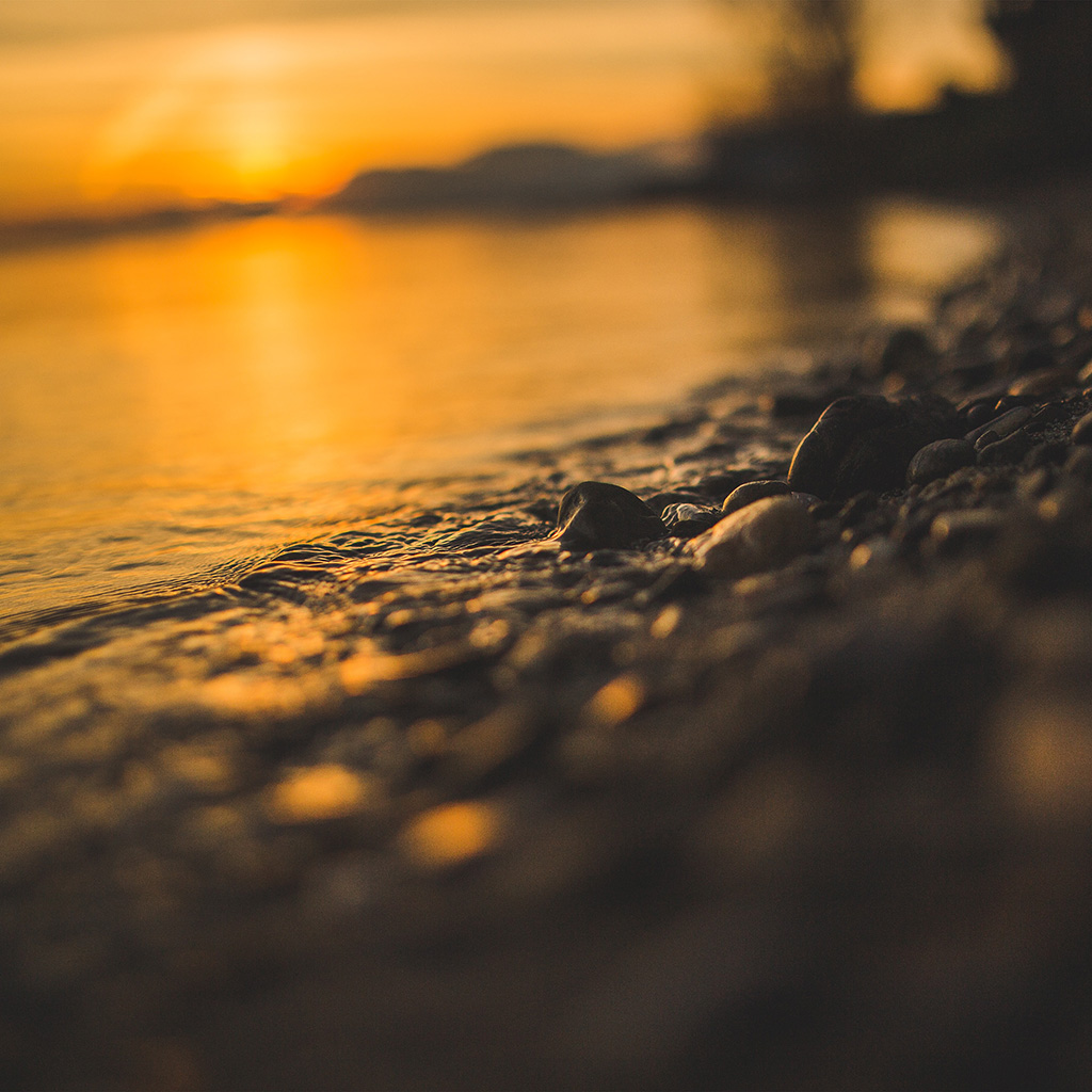wallpaper-nk56-sea-stone-lake-rock-bokeh-night-wave-orange-wallpaper