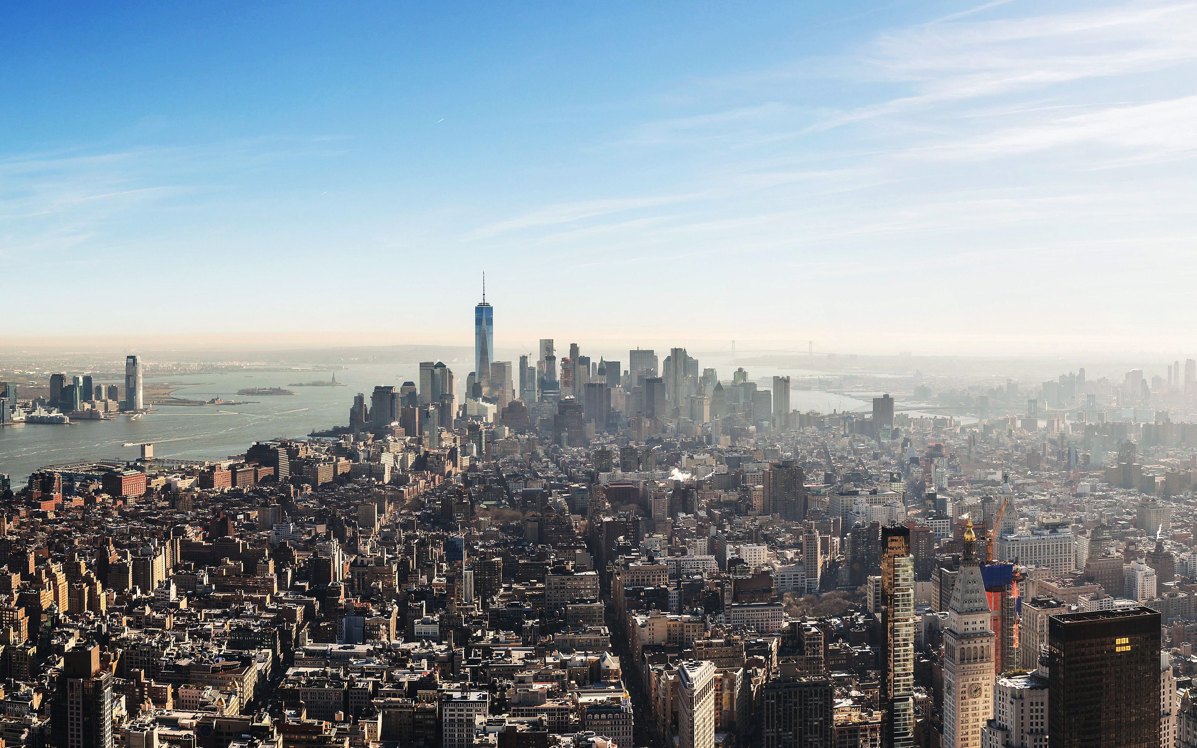 Nk59 City View Newyork Fly Wallpaper