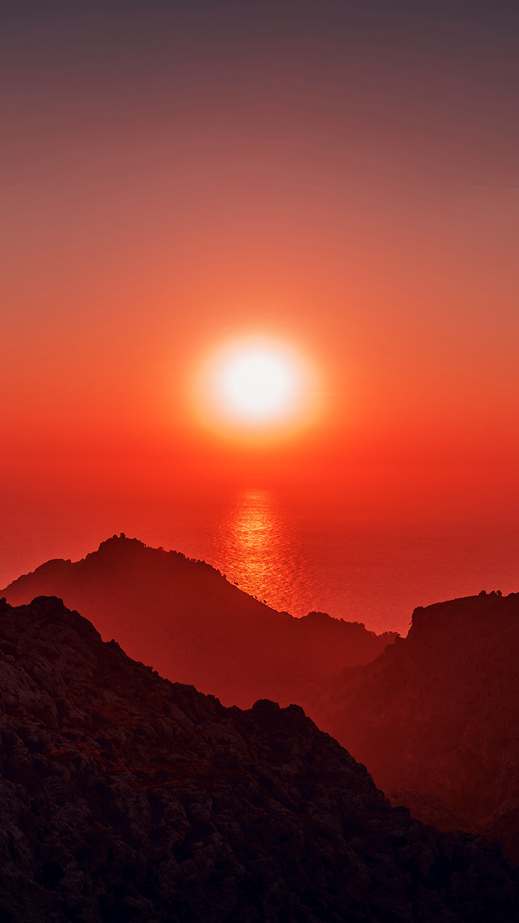 Papers.co-iPhone5-iphone6-plus-wallpaper-nk68-sea-sunset-afternoon-rock-mountain-red-nature