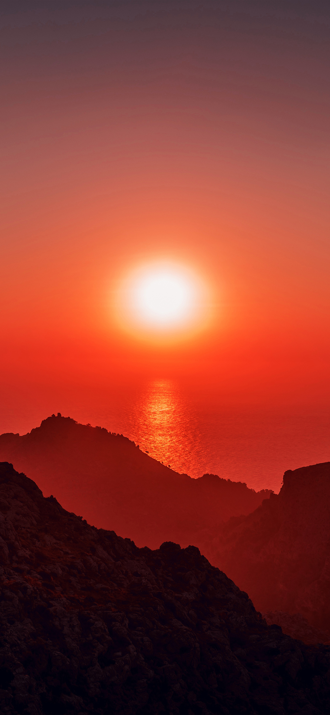 iPhoneXpapers.com-Apple-iPhone-wallpaper-nk68-sea-sunset-afternoon-rock-mountain-red-nature