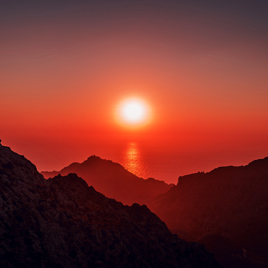 wallpaper-nk68-sea-sunset-afternoon-rock-mountain-red-nature-wallpaper