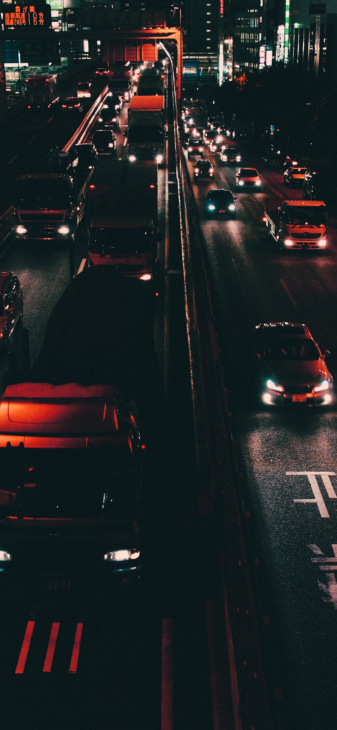 Iphonexpapers Com Iphone X Wallpaper Nk70 Street Car Japan Night Orange