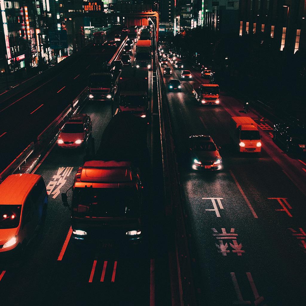 Nk70-street-car-japan-night-orange-wallpaper
