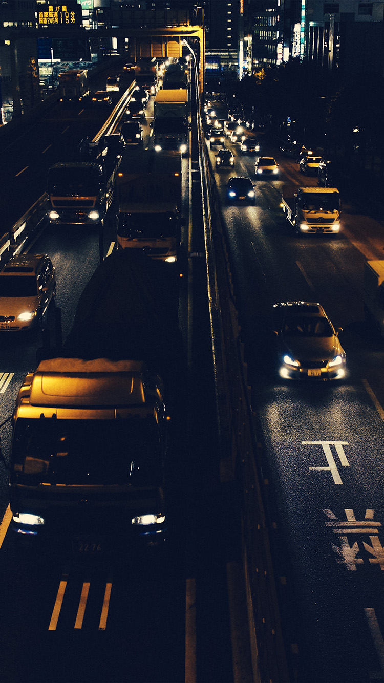 Papers.co-iPhone5-iphone6-plus-wallpaper-nk71-street-car-japan-night-yellow