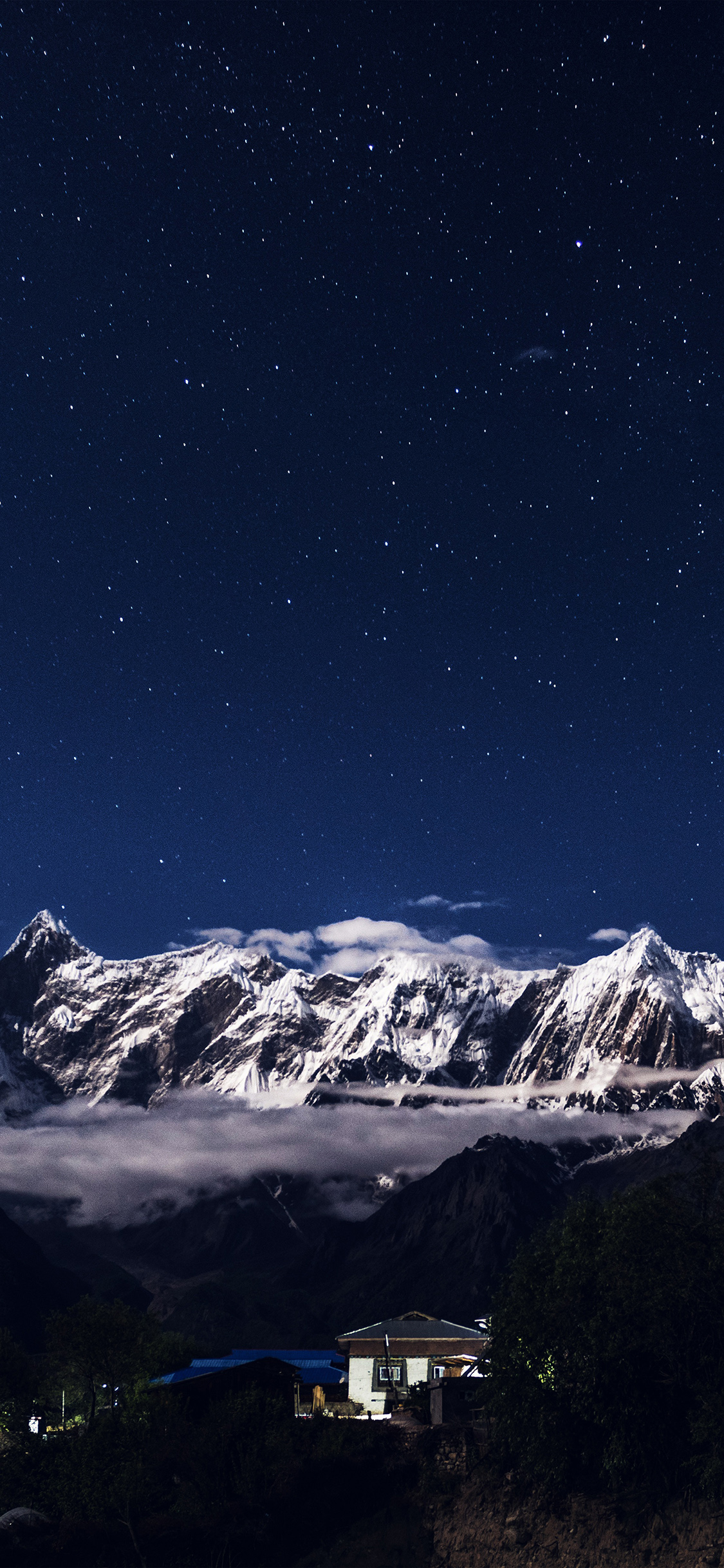 iPhonexpapers.com-Apple-iPhone-wallpaper-nk75-night-mountain-blue-sky-space-star-dark