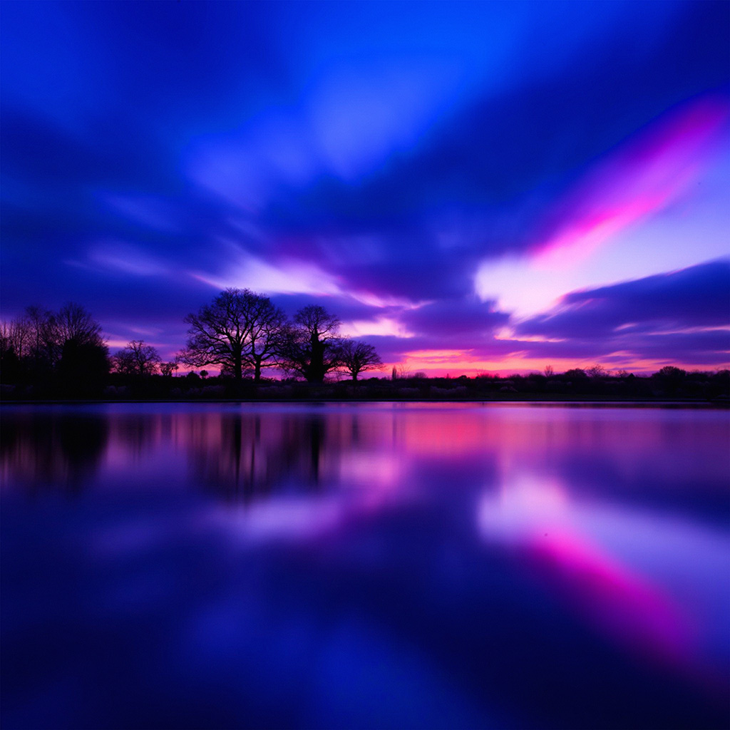 wallpaper-nl30-night-lake-blue-sunset-nature-soft-wallpaper