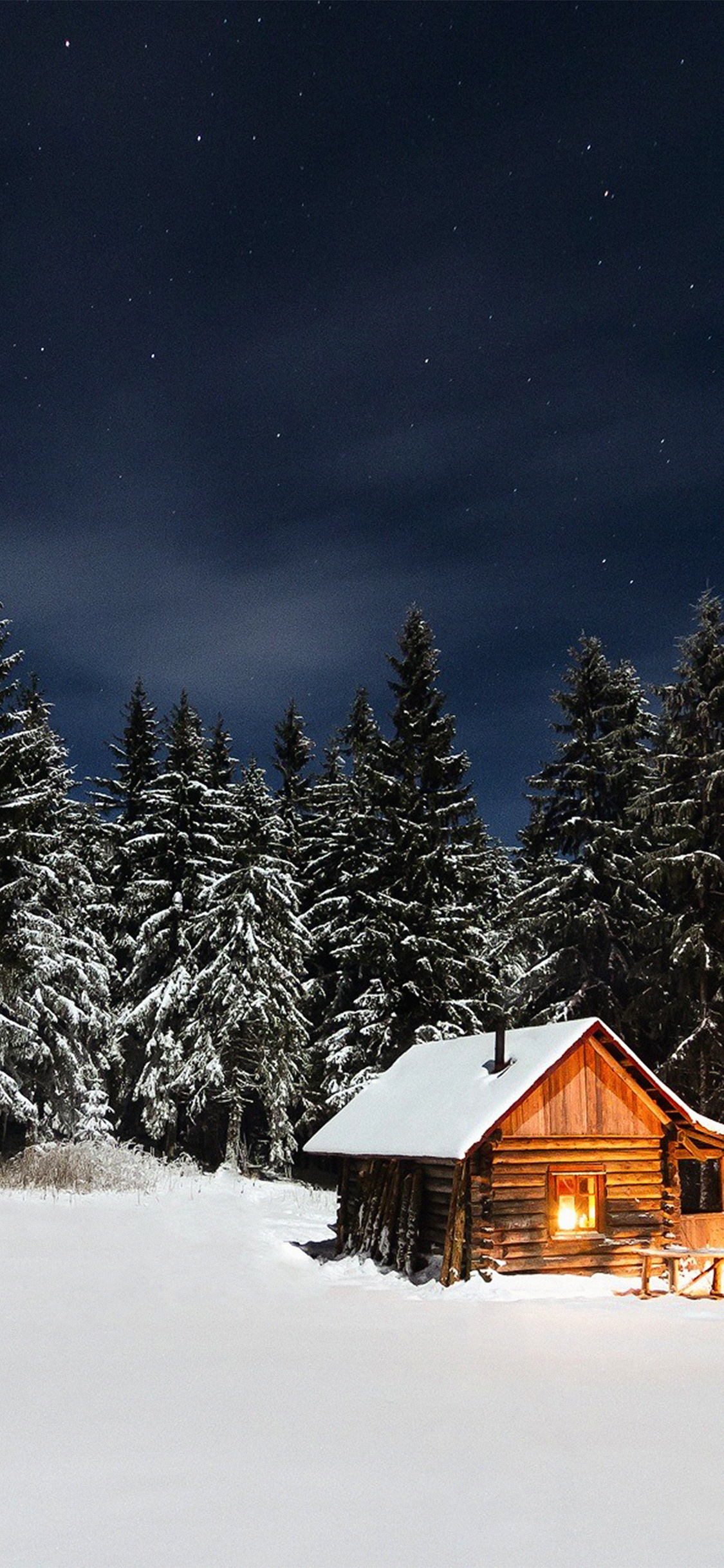 iPhoneXpapers.com-Apple-iPhone-wallpaper-nl37-winter-house-night-sky-christmas