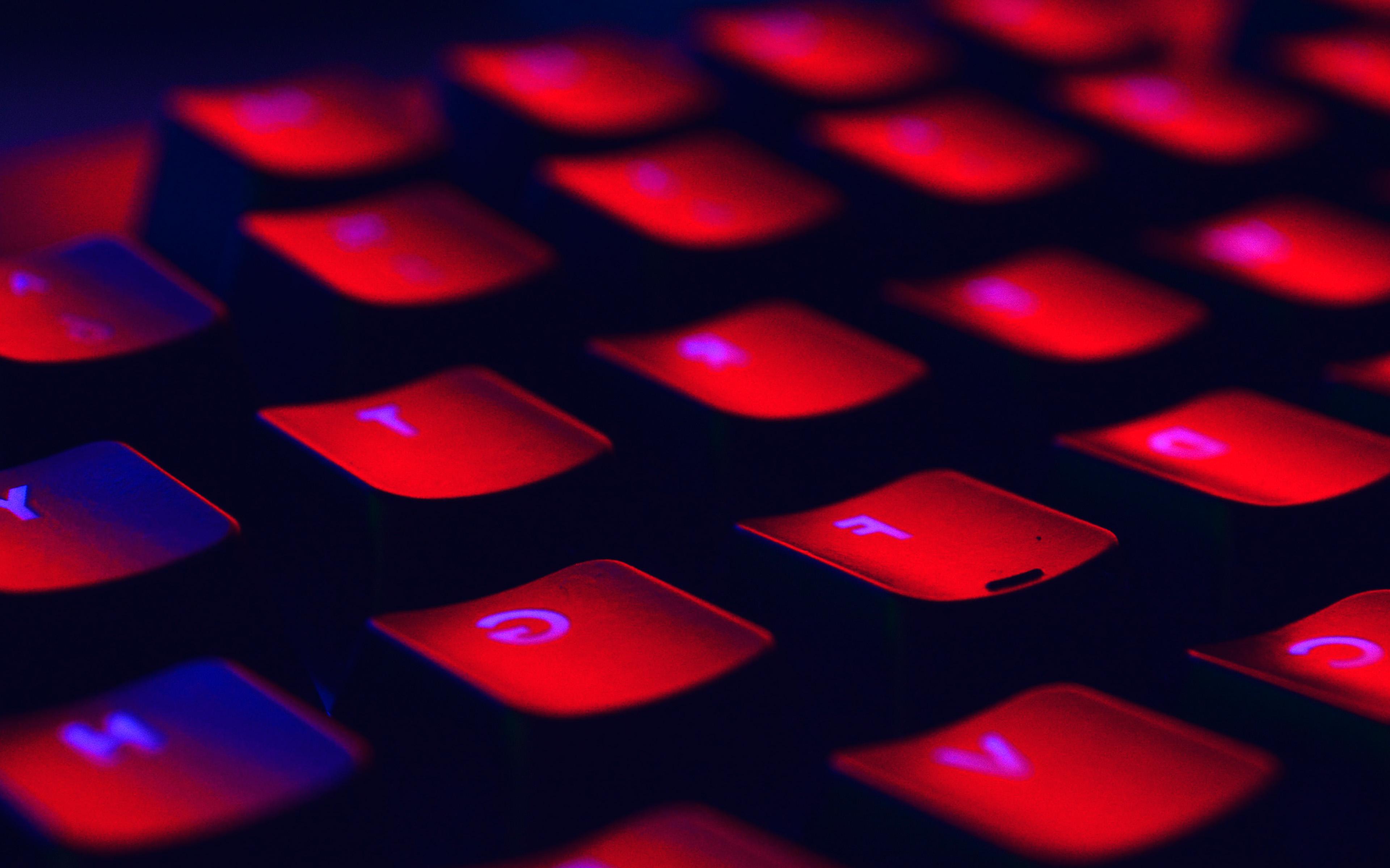 Nl79 Dark Red Keyboard Coding Blue Wallpaper