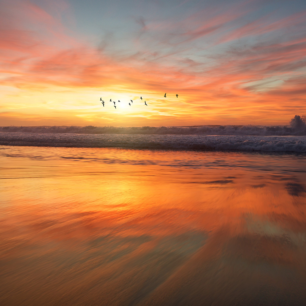 PAPERS.co | Android wallpaper | nm03-sunset-sea-nature ...