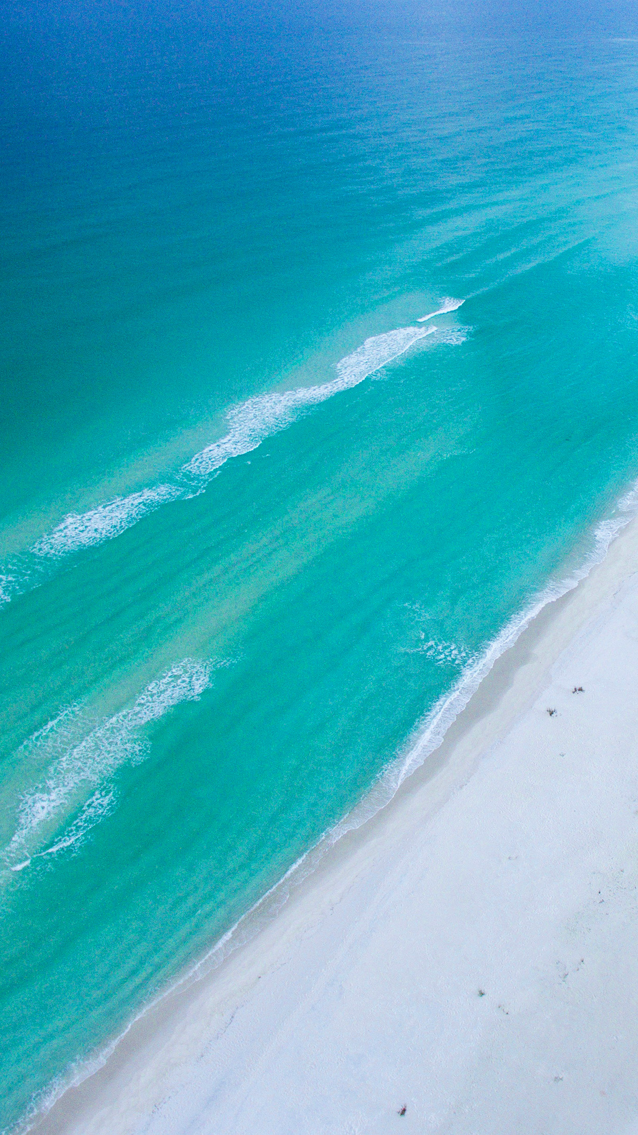 Nm09- Sea -blue-green-skyview-earth-summer- Wallpaper