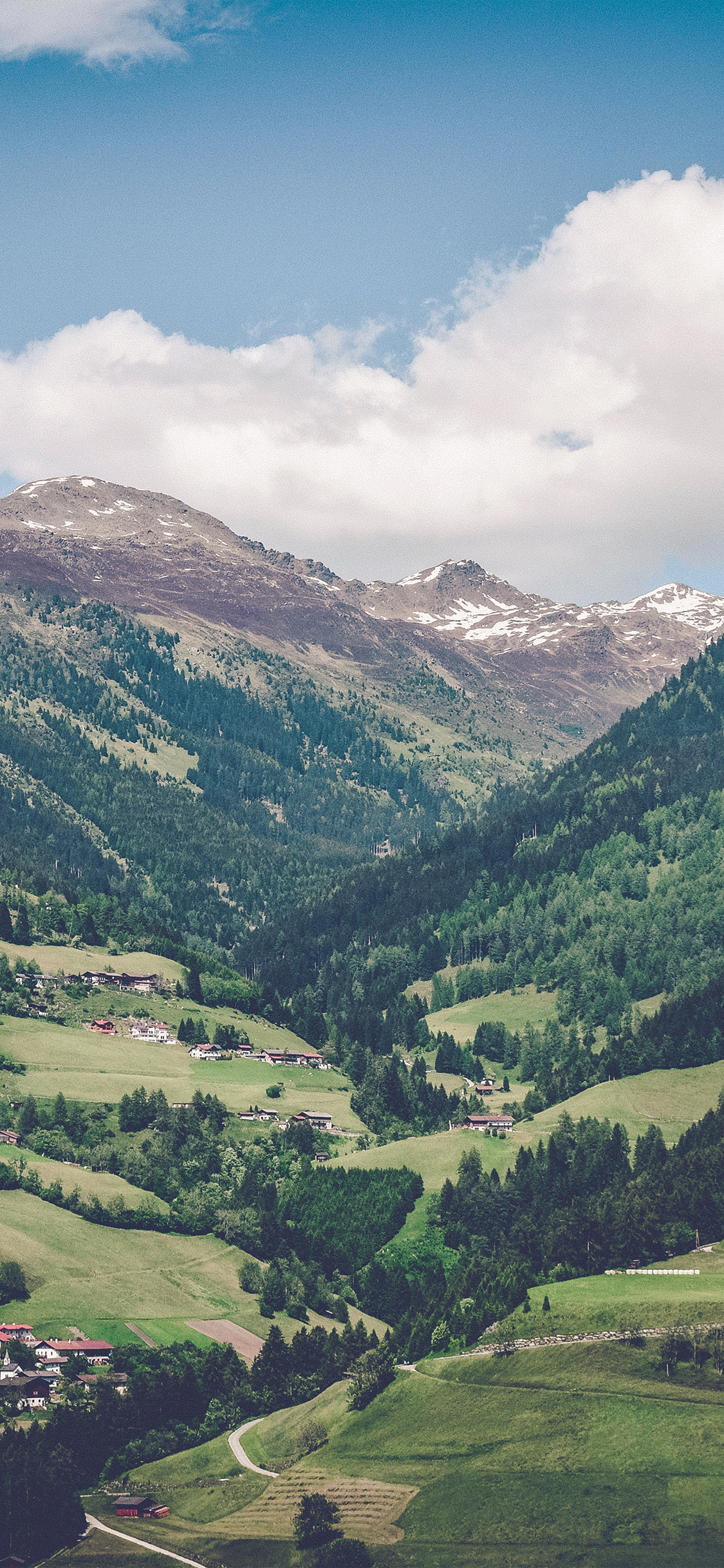 iPhonexpapers.com-Apple-iPhone-wallpaper-nm89-summer-mountain-town-nature-green-swiss-blue