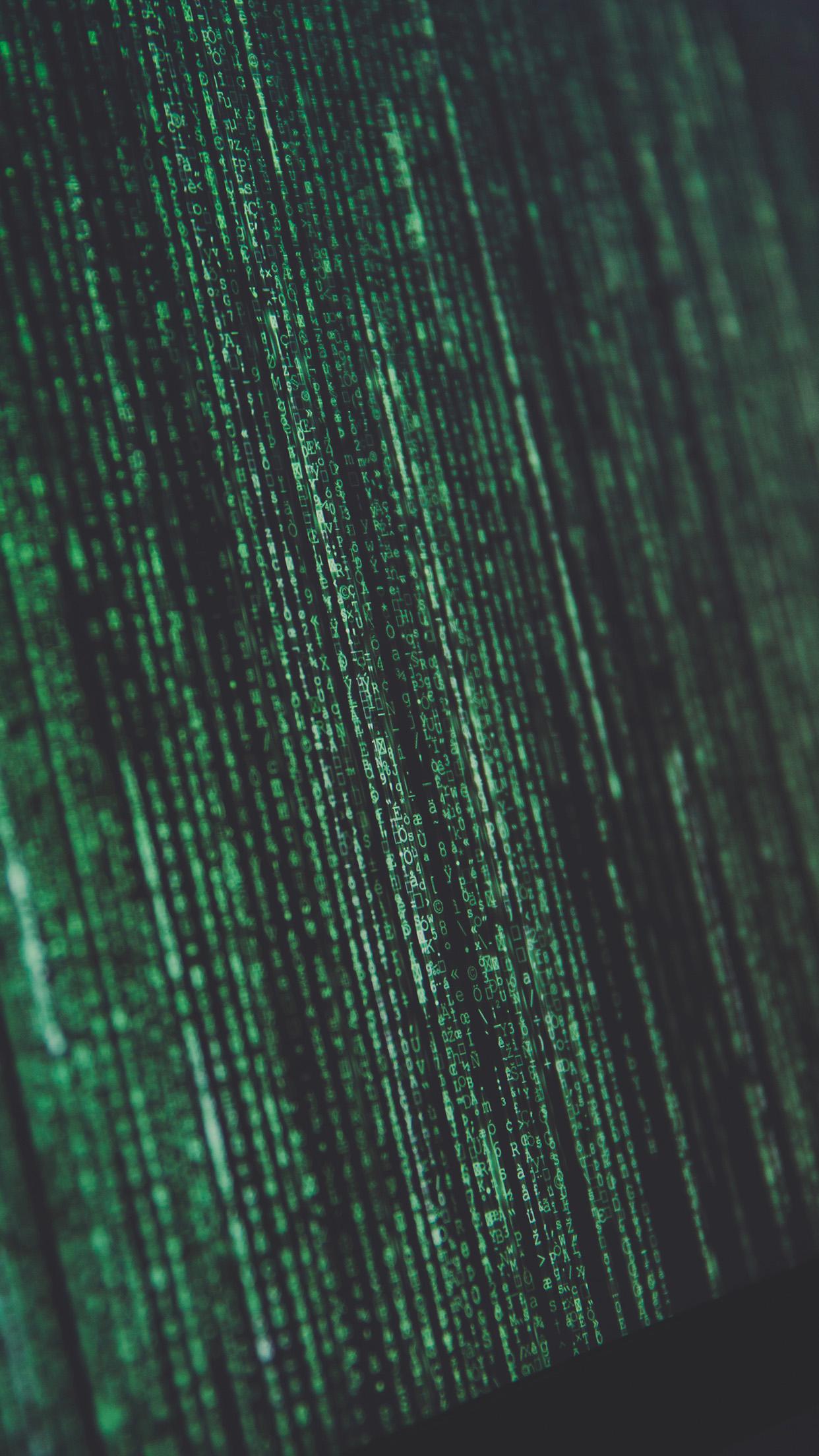 Nm91 Matrix Minimal Coding Screen Computer Green Dark Wallpaper
