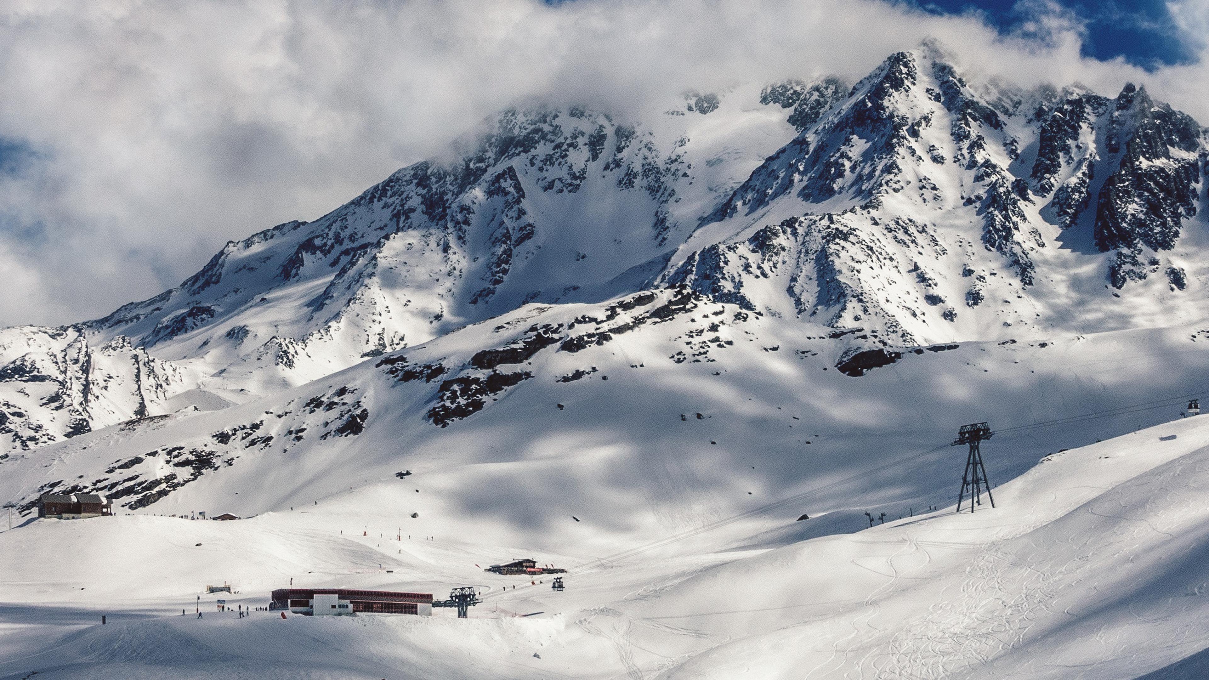 Nn05 Snow Mountain Winter Nature