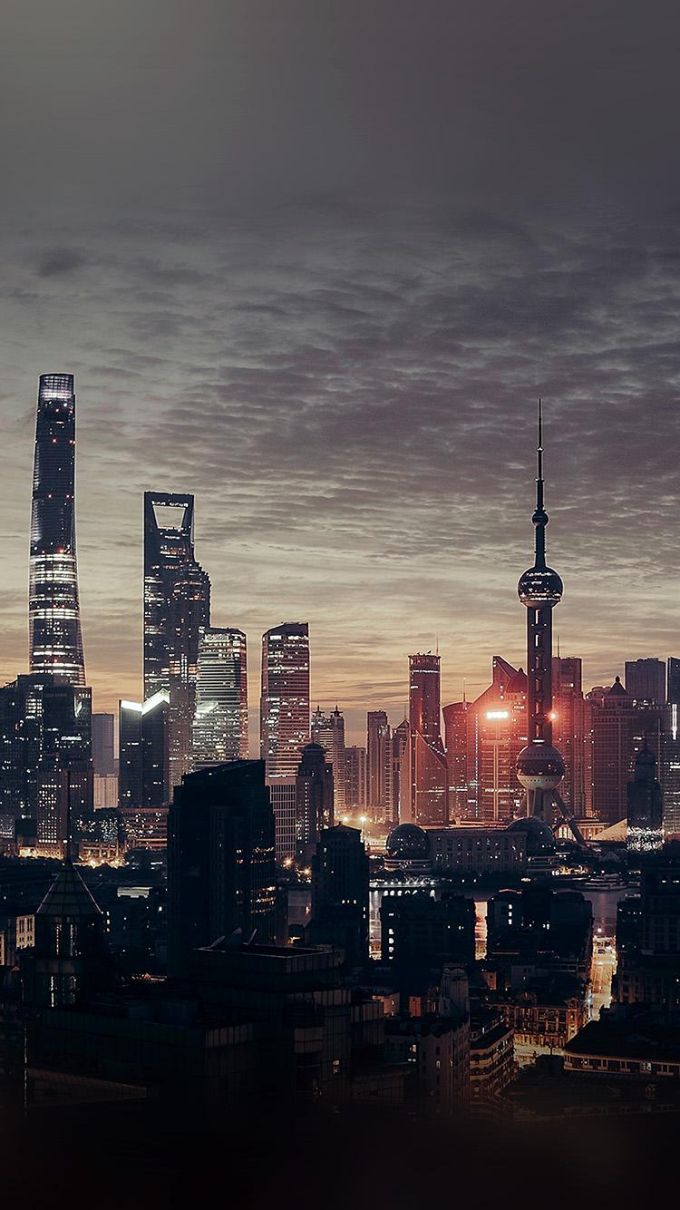 iPhone7papers.com-Apple-iPhone7-iphone7plus-wallpaper-nn24-city-shanghai-night-building-skyline-sunset