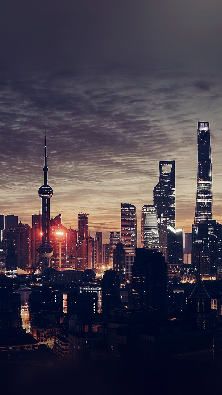 iPhone7papers.com-Apple-iPhone7-iphone7plus-wallpaper-nn25-city-shanghai-night-building-skyline-sunset-romantic