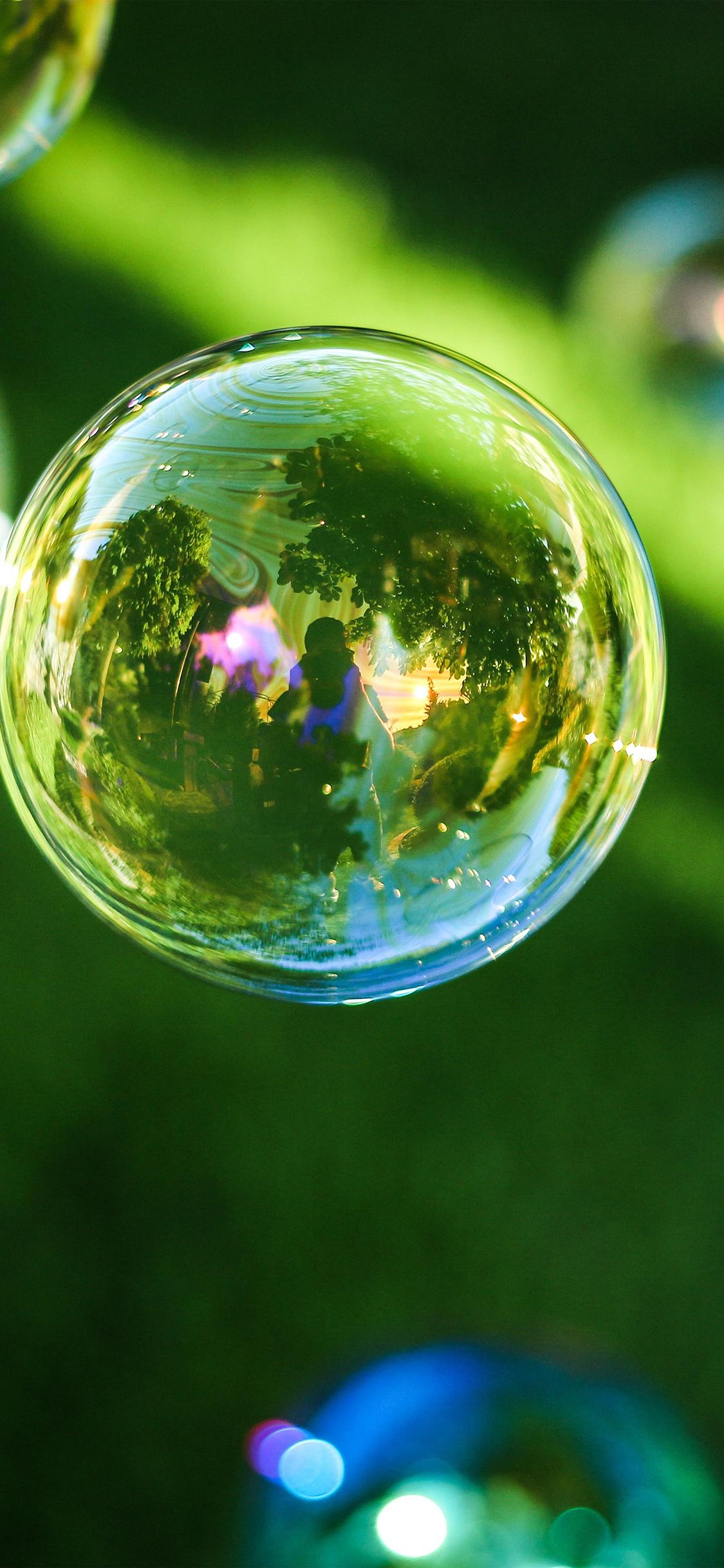 iPhoneXpapers.com-Apple-iPhone-wallpaper-nn85-bubble-summer-day-green-bokeh