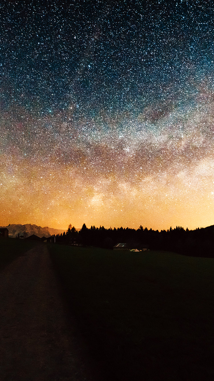 iPhone7papers.com-Apple-iPhone7-iphone7plus-wallpaper-nn95-starry-sky-nature-sunset-mountain-road-night