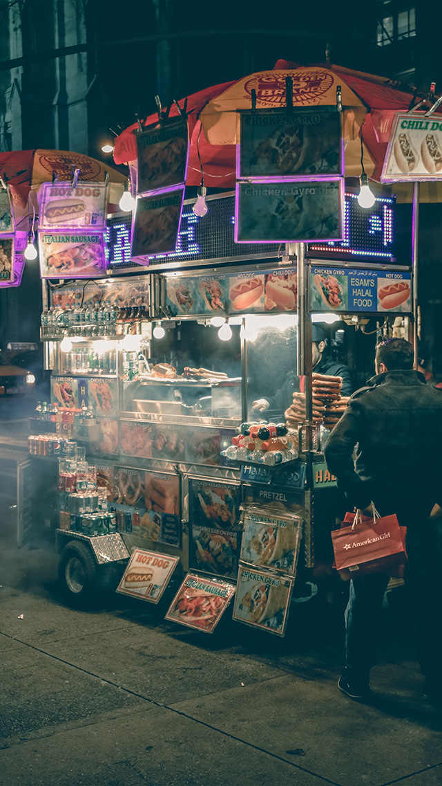 freeios8.com-iphone-4-5-6-plus-ipad-ios8-no00-food-truck-hotdog-night-city