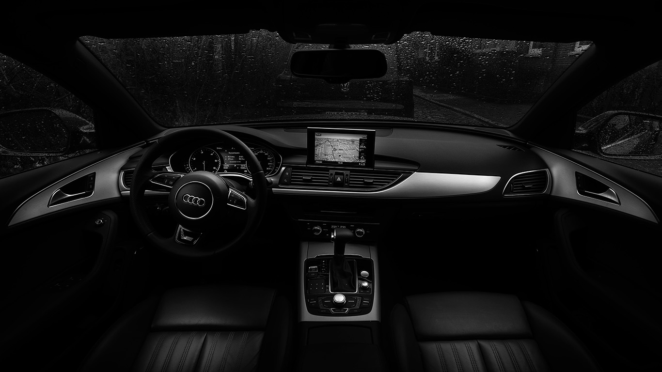 Wallpaper For Desktop Laptop No06 Audi Car Interior Dark Bw