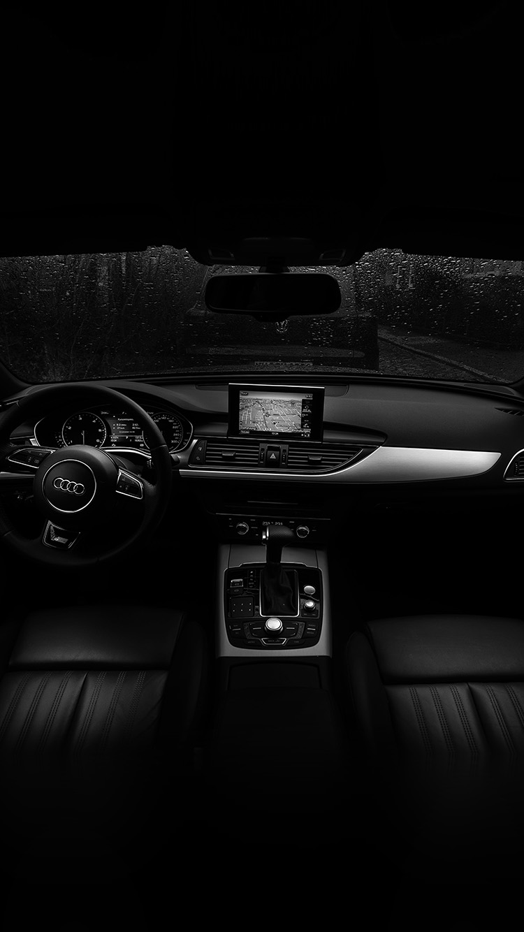 No06 audi car interior dark bw for Interior iphone x