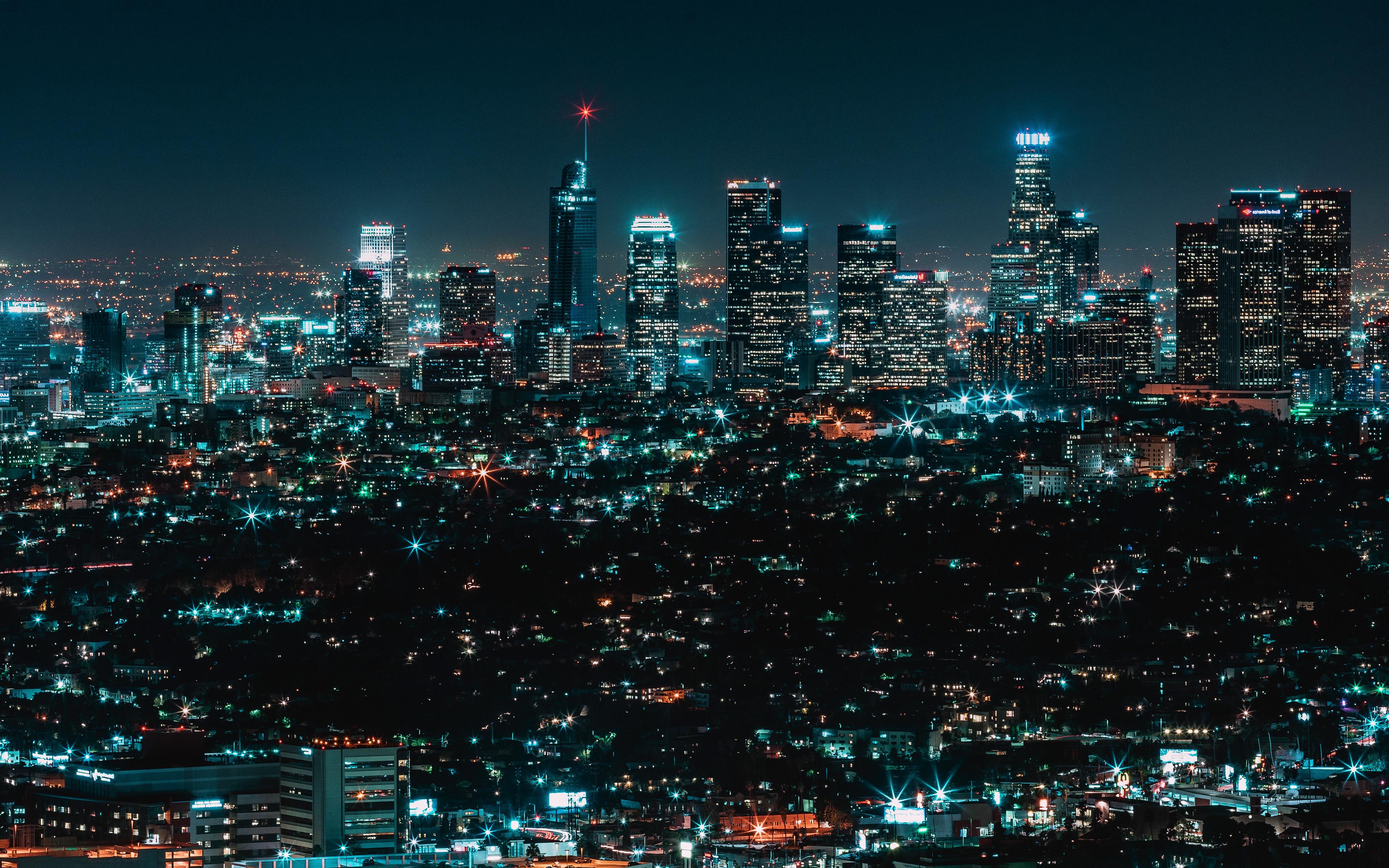 No13 City View Night Architecture Building Dark Newyork Wallpaper