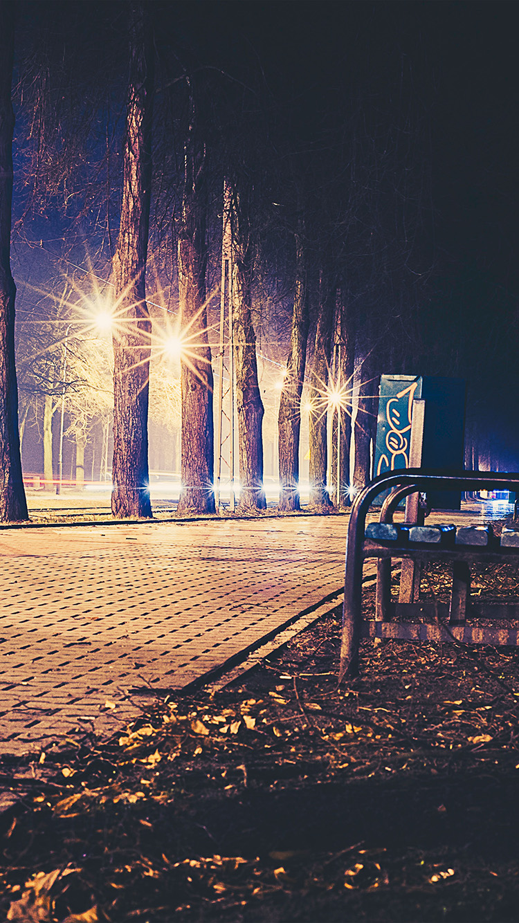 iPhone6papers.co-Apple-iPhone-6-iphone6-plus-wallpaper-no43-street-night-bench-nature-dark