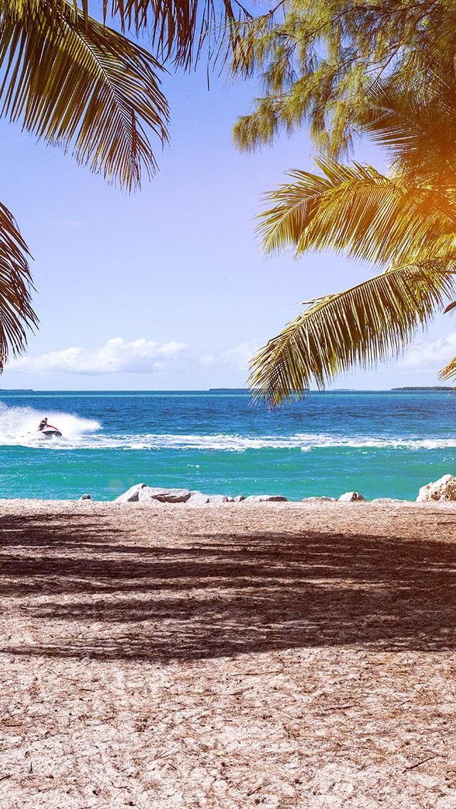 freeios8.com-iphone-4-5-6-plus-ipad-ios8-no58-summer-vacation-ocean-sea-nature-beach